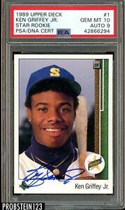 Ken-Griffey-Jr-Signed-1989-Upper-Deck-1-RC-Rookie-HOF-PSA-10-PSA-DNA-POP-2