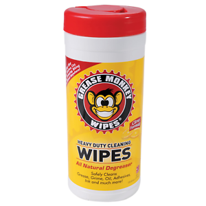 Grease-Monkey-Heavy-Duty-Cleaning-Wipes-25pc-Bottle-Bicycle-Auto-Car-Bike-Repair