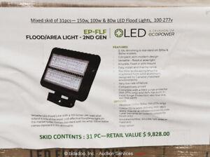 Lot of (21) Ecopower Mixed FLF LED Flood Flood & Area Light EP-FLF bidadoo -New