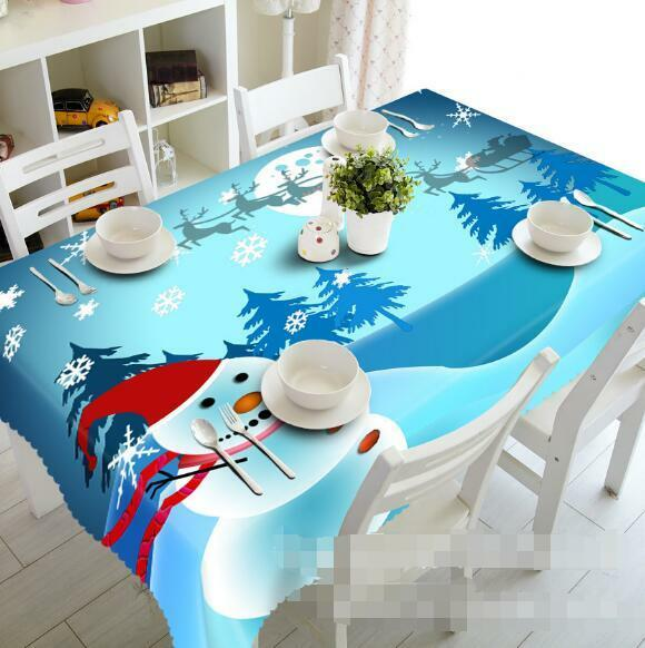 3D Winter 709 Tablecloth Table Cover Cloth Birthday Party Event AJ WALLPAPER AU