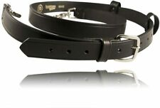 Boston Leather Firefighters Radio Strap 125 Wide 6543 1 Black Leather New