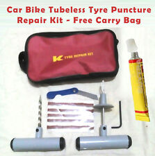 Car Bike Tubeless Tyre Puncture Repair Kit - Free Carry Bag
