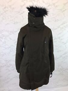 804518929634 Steve Madden Women s Olive Green Canvas Parka w  Black Faux Fur ...