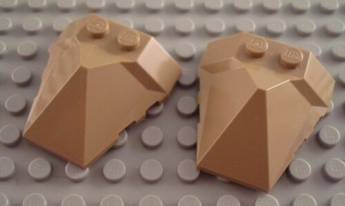 LEGO Lot of 2 Dark Tan 4x4 Pointed Pyramid Center Wedges