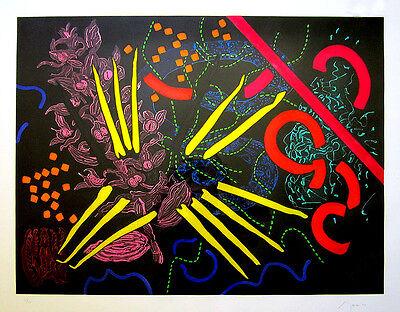 "NANCY S. GRAVES Signed 1987 Original Color Etching and Aquatint - ""Neferchidea"""