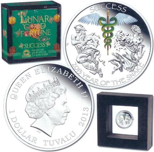 Tuvalu 2013 1$ Year of the Snake Success The Perth Mint 1oz Proof Silver Coin