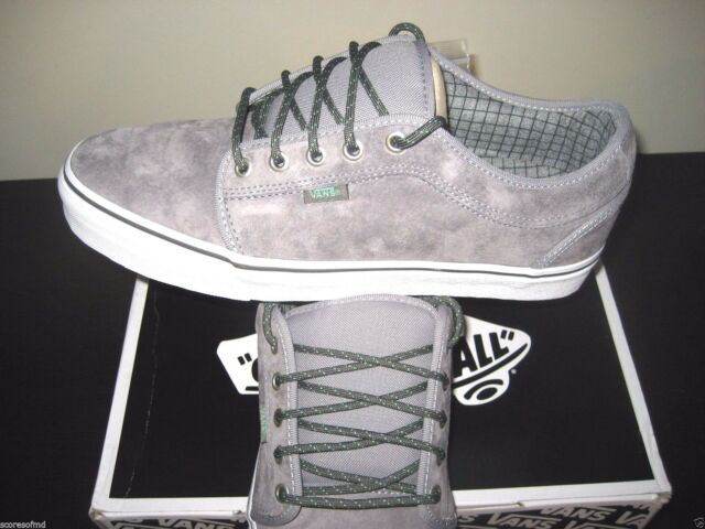 e73512e59f Vans Chukka Low Hiker Grey Mint Suede Canvas Skate Shoes Size 8 VN-0UOG9VY