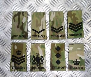 Genuine-British-Army-034-STEELBACKS-034-MTP-MultiCam-Camo-Rank-Slide-Various-Ranks