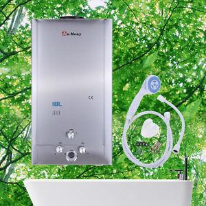 18l lpg propane gaz chauffe eau instantane chaudi re pomme de douche ebay. Black Bedroom Furniture Sets. Home Design Ideas