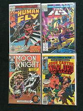 Lot of 4 Comics The Human Fly #3, The Fly #6, Moon Knight #16 & John Carter #5