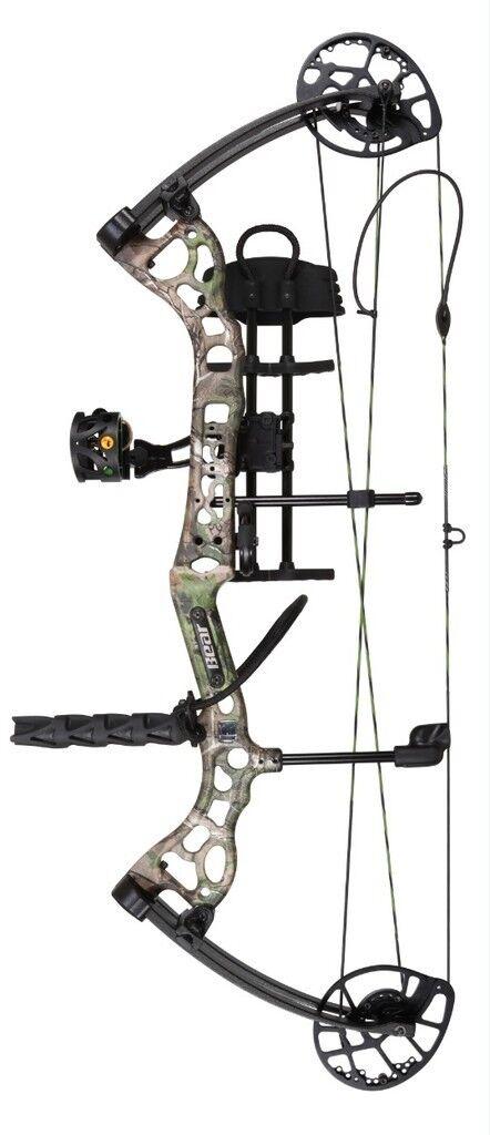 Nuevo Bear Archery Crux rth 70  Derecho Mano paquete de arco Realtree Camo