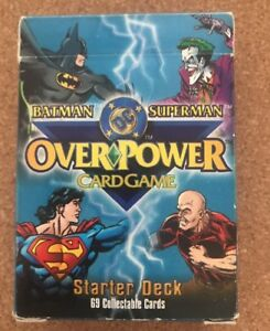 Batman & Superman Over Power Jeu De Carte Dc Comics Starter Deck 69 Cartes-afficher Le Titre D'origine Large SéLection;