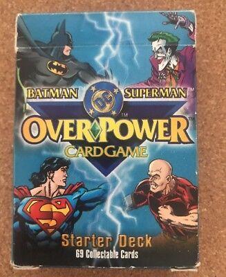 Batman & Superman Over Power Gioco Di Carte Dc Comics Starter Deck 69 Carte-mostra Il Titolo Originale Sconti