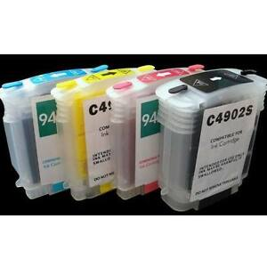 4 refillable ink cartridge with chip hp 940 xl 8500a plus 8500a premium ebay. Black Bedroom Furniture Sets. Home Design Ideas