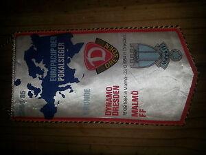 W9-WIMPEL-EC-DYNAMO-DRESDEN-MALMO-FF-3-10-1984-DDR-Sport-Fussball-DFV-DFB