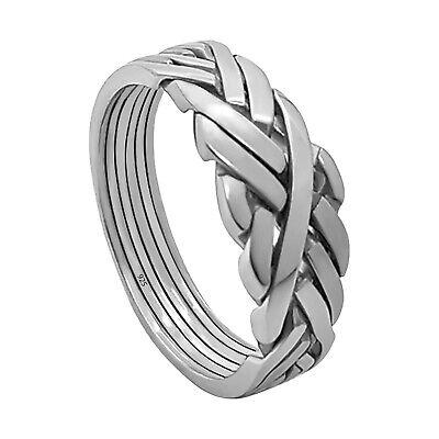 Größen Puzzle Ring 925 Silber Ring 6 teilig Puzzlering Geduldsspiel versch