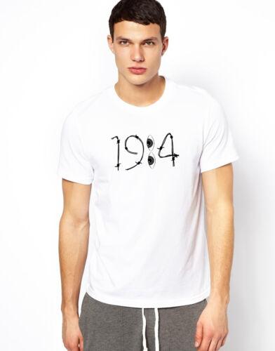 George Orwell 1984 T-shirt Police Big Brother Printed Indie Gift Unisex Tee T