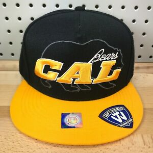Cal Bears NCAA College California Flat Bill Leather Strap Back TOW Cap NWT Hat