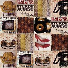 2m 1970's Retro Kitsch Photo Printed Designer Cotton Curtain Fabric Upholstery