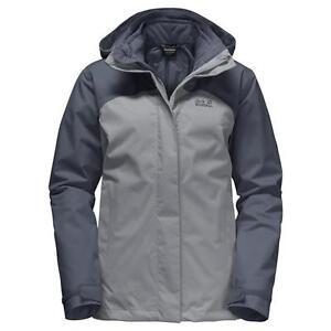 wholesale dealer 446f0 e1eab Details zu Jack Wolfskin Echo Bay 3-in-1 Hardshell Jacke Damen alloy UVP*  239,99