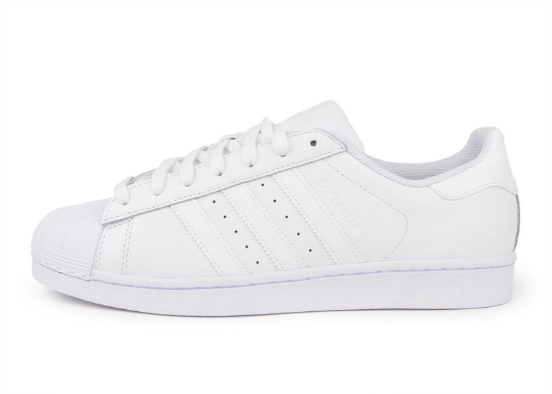 ADIDAS SUPERSTAR FOUNDATION FOUNDATION SUPERSTAR MEN'S WHITE/WHITE STYLEB27136 d58261