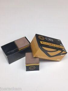 2-Pieces-OB-Pool-Chalk-TAN-OB-Cue-Premium-Quality-Billiard-Chalk