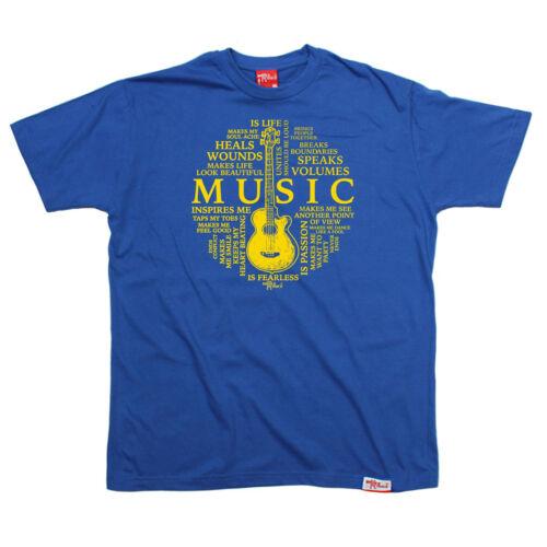 Music Is Life Circle MENS Banned Member T SHIRT tee birthday guitar band gift