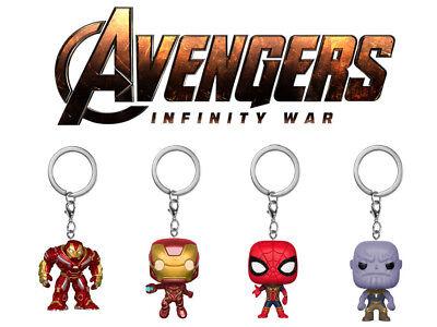 KöStlich Avengers Bobble-head Schlüsselanhänger 4cm Ironman Spiderman Hulkbuster Thanos Ideales Geschenk FüR Alle Gelegenheiten