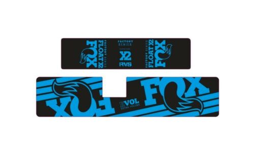 FOX Float X2 Rear Shock Suspension Sticker Factory Decal Kit Adhesive Blue