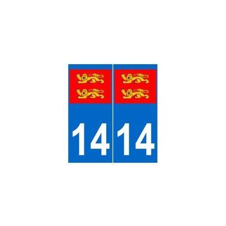 14 normandie autocollant plaque arrondis
