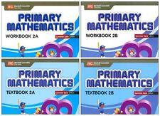 Primary Mathematics Grade 2 Kit (Common Core ED)-Workbooks 2A+2B,Textbooks 2A+2B