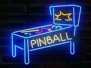 New-Pinball-Machine-Game-Room-Beer-Bar-Real-Neon-Sign-Light-FAST-FREE-SHIP