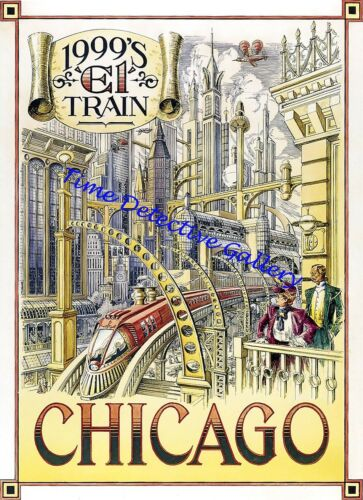 Cities of the Future Poster in 5 Sizes Chicago Disneyland Paris