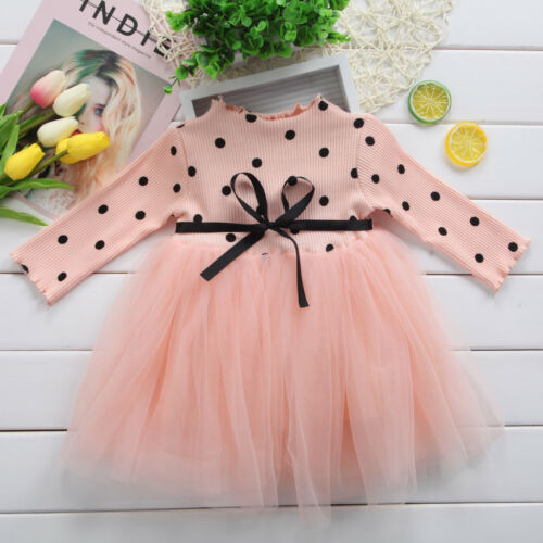 Olivia Baby Girl Jumper Tutu Dress Birthday Gift Party Gown Bridesmaid Christmas