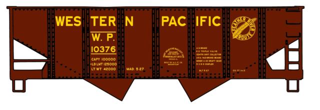 HO Scale Accurail USRA Twin Hopper Western Pacific Road #10376 Item #2436
