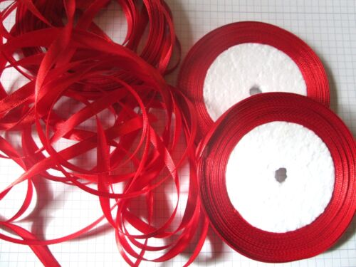 of  Red Satin Ribbon   Sewing card making decoration 50 yards 45metres