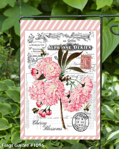 Pink Carnations  Double Sided Soft Flag   **GARDEN SIZE**   FG1096