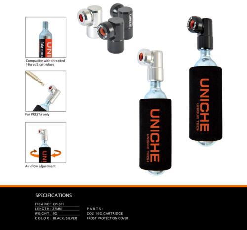 Uniche CO2 Injector Sprint Bike-Co2-Tire-Inflator-Head-Presta-Valve Only