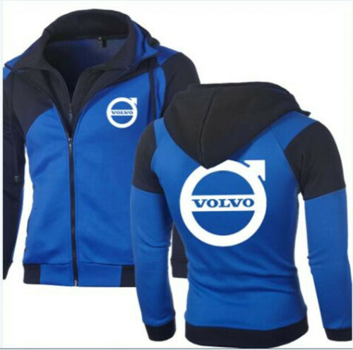 HOT!2019 VOLVO spring and autumn zipper sports casual youth hooded hoodie coat