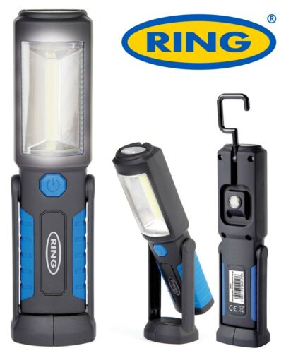 RING LED Rechargeable Inspection Lamp Work Torch Hand Held Light Hook Magnetic