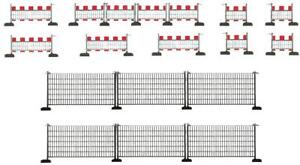 Faller-180435-Echelle-H0-Clotures-de-Barriere-460mm-1m