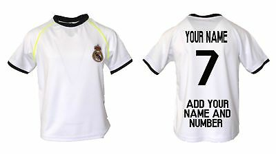 Real Madrid Soccer Jersey Youth Kids Training add Your Name & Number Ronaldo 7 Fan Apparel & Souvenirs