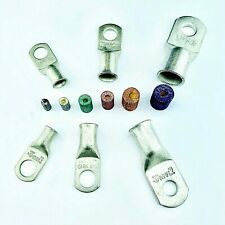 Battery Cable Ends Lugs Copper Ring Terminals Wire Connectors W Solder Pellets