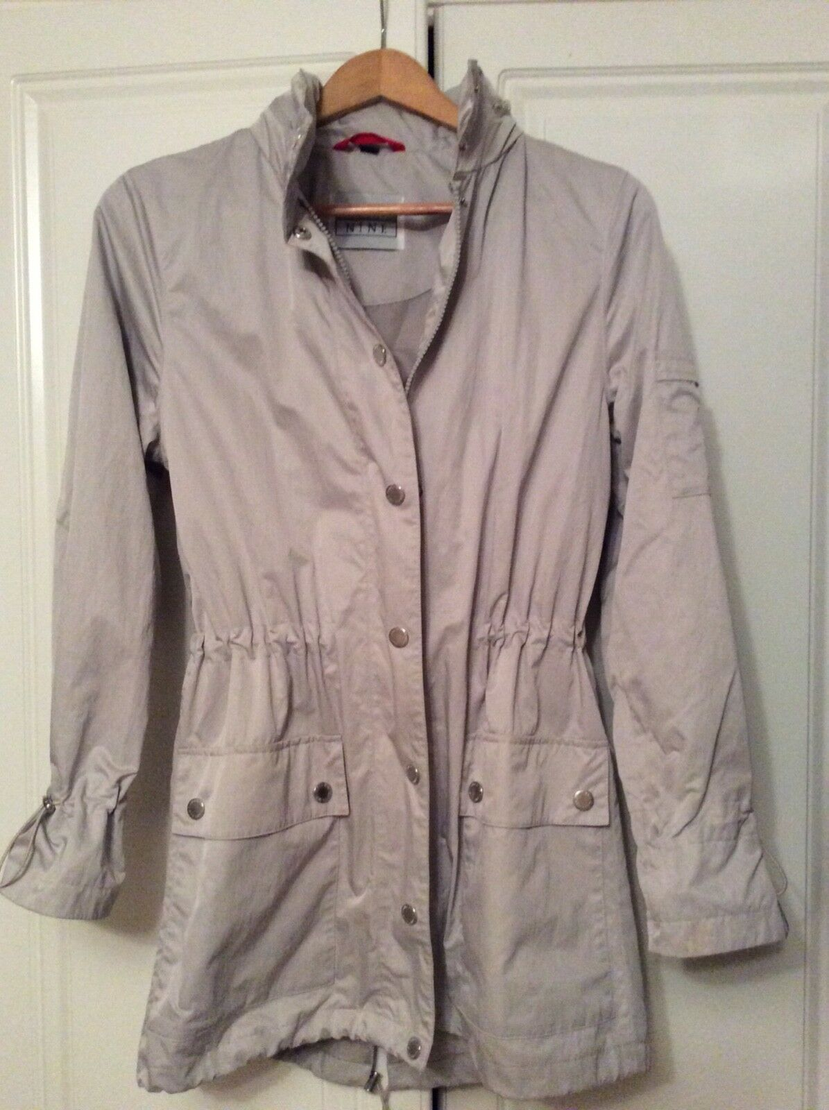 Ladies Cloud Nine Smart and Super Stylish  Small Beige Lightweight  Parka
