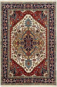 Hand-Knotted-Carpet-5-039-11-034-x-8-039-9-034-Traditional-Oriental-Hand-Made-Wool-Area-Rug