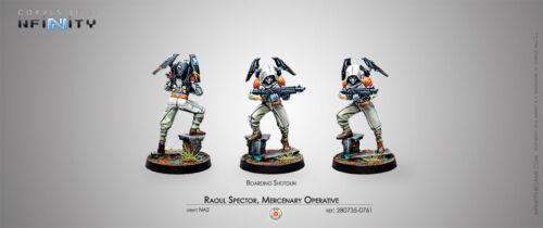 mercenario operativo Embarque Escopeta 280735-0761 Infinity Nuevo y en caja Raoul Spector