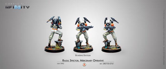 Corvus Belli Brand New Mercenary Operative Raoul Spector Boarding Shotgun