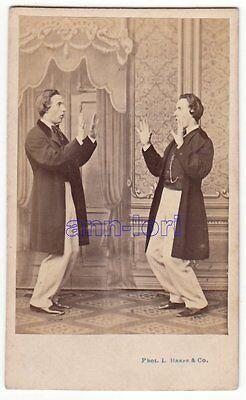 L. Haase &Comp. CDV-Foto ca. 1860er Fotomontage E. Thomas gespiegelt BERLIN RAR