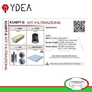 Set-Filtration-Fiat-500-II-Panda-II-169-Panda-klassisch-1-2-GPL-Ydea-K148FT-G