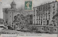 CPA 66 PERPIGNAN HOTEL DE FRANCE ET CASTILLET (cpa émaillée